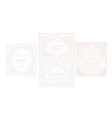 elegant abstract vintage frame invitation set vector image vector image