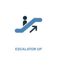 escalator up icon monochrome style design from vector image vector image