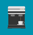flat coffee machine icon vector image
