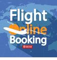 Flight Online Booking For Sale Banner vector image