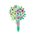 flower bouquet flat style vector image vector image