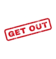 Get Out Text Rubber Stamp vector image vector image