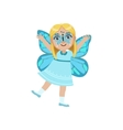 Girl Wearing Butterfly Animal Costume vector image vector image