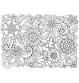 Hand drawn pattern with flowers Ornate pattern vector image