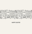 happy easter banner concept vector image vector image