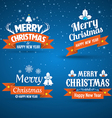 Happy new year merry christmas set vector image
