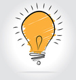 Light bulb - idea concept vector image vector image