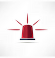 light siren icon vector image