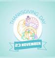 november thanksgiving day vector image