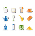 restaurant and cafe icons - vecto vector image vector image