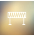 Road Barrier thin line icon vector image