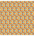Seamless Circle Orange Pattern vector image vector image