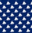 seamless travel pattern with sailboat vector image vector image