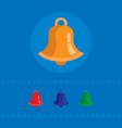 set of colored bell icons vector image vector image