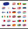 set of flags of the european union countries flag vector image vector image