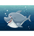 Shark in sea vector | Price: 3 Credits (USD $3)