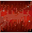 Shiny rhinestone red mosaic background vector image vector image