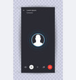 skype call screen template vector image