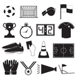 Soccer or Football Icons Set vector image vector image