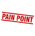 square grunge red pain point stamp vector image vector image