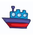 Style ship cartoon collection for kids vector image