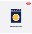 two color washing machine with dots icon from vector image vector image