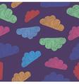 variegated cloud pattern vector image vector image