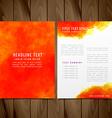 watercolor brochure flyer design vector image