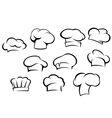 White chef hats and caps set vector image vector image
