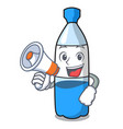 with megaphone water bottle character cartoon vector image vector image