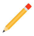 yellow eraser pencil icon flat isolated vector image