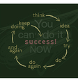 You can do it now for success concept vector image vector image