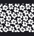 black and white summer floral in retro 60s style vector image