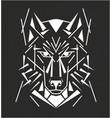 tribal wolf tatoo vector image