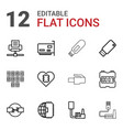 12 usb icons vector image vector image
