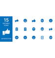 15 satisfaction icons vector image vector image