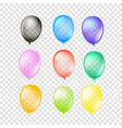 air balloons collection isolated on transparent vector image vector image