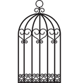 antique bird cage vector image vector image