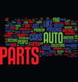 auto parts how do i find the rare ones text vector image vector image