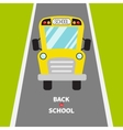 Back to school Yellow school bus kids Green vector image vector image