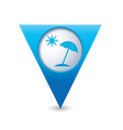 beach icon map pointer blue vector image vector image