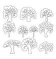 beautiful black and white set hand drawn vector image
