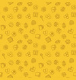 beekeeper yellow seamless pattern or vector image vector image