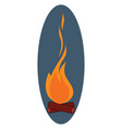 bonfire on white background vector image vector image