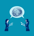 business people talking nonsense speech concept vector image vector image