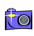 camera icon cartoon vector image vector image