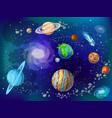 cartoon scientific space background vector image