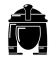 cleopatra icon simple black style vector image vector image