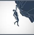 climbing logo icon vector image vector image