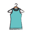 colored blurred silhouette of female t-shirt vector image vector image